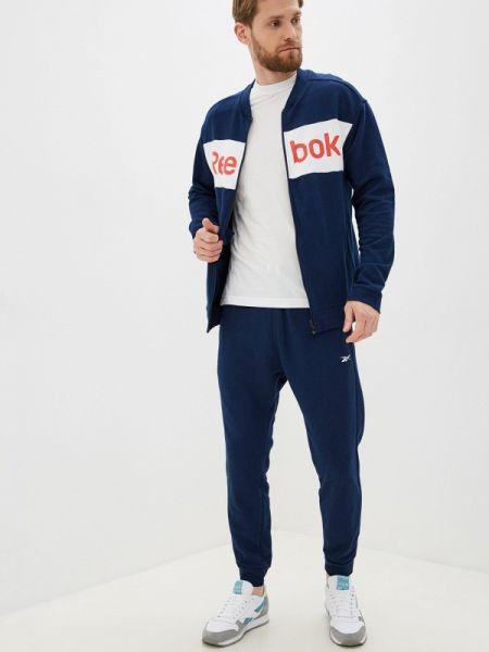 Костюмный синий спортивный костюм Reebok