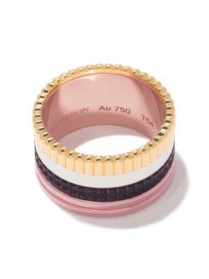 Żółty złoty pierścionek oversize Boucheron
