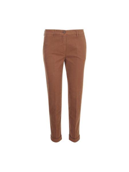 Brązowe spodnie Aspesi