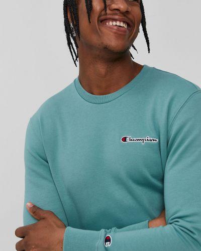 Zielona bluza z kapturem bawełniana Champion