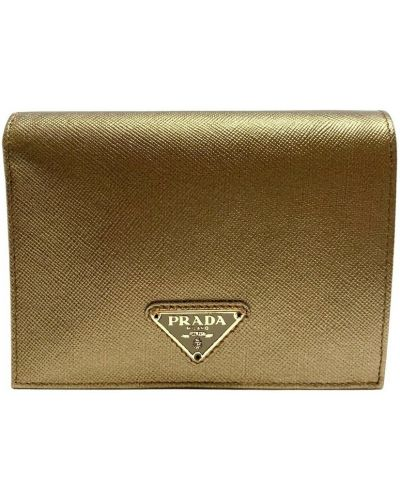 Żółty portfel Prada Vintage