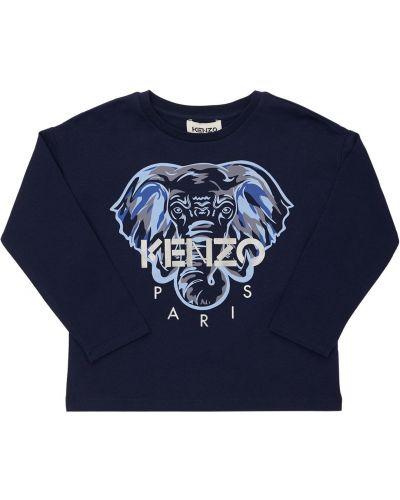 Лонгслив с принтом - синяя Kenzo Kids
