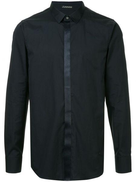 Хлопковая темно-синяя рубашка на пуговицах с длинными рукавами Loveless