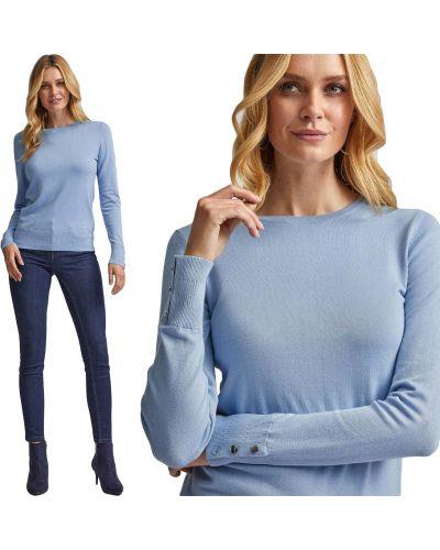 Sweter zapinane na guziki - niebieski Dorothy Perkins