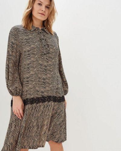 Повседневное платье осеннее бежевое Kitana By Rinascimento