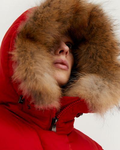 Красное пуховое пальто Finn Flare