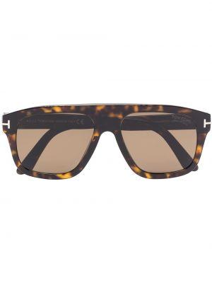 Akryl brązowy okulary przeciwsłoneczne Tom Ford