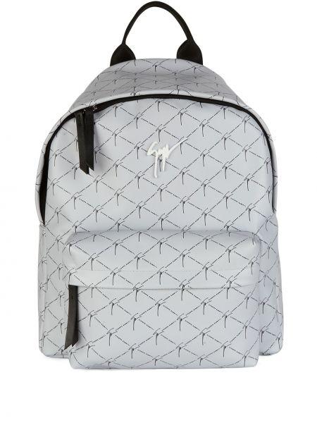 Plecak skórzany - biały Giuseppe Zanotti