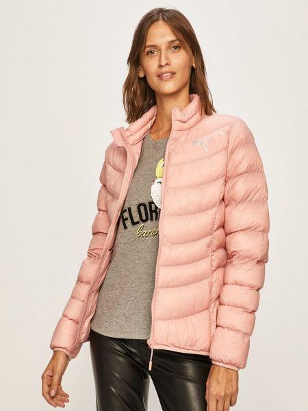 Розовая стеганая куртка с воротником Puma