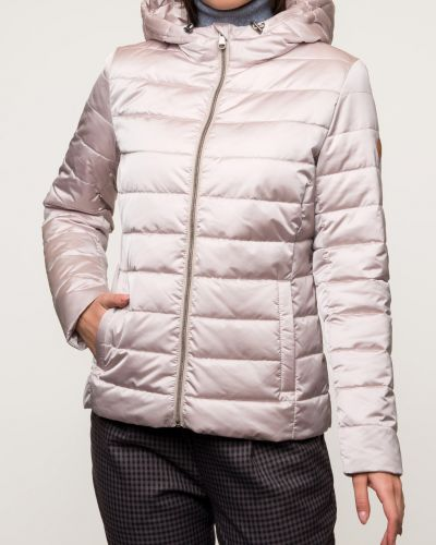 Бежевая утепленная модная куртка каляев