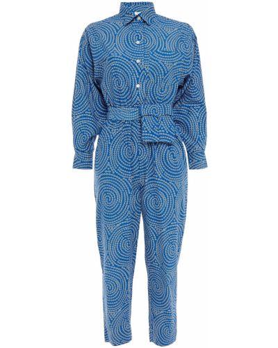 Niebieski kombinezon bawełniany Rhode