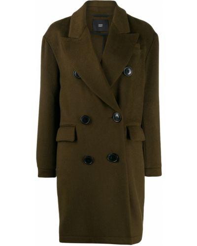 Коралловое шерстяное длинное пальто Steffen Schraut