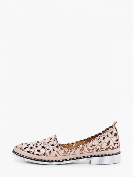 Кожаные туфли розовый закрытые Pierre Cardin