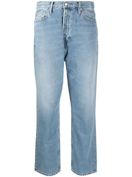 Światło skórzany niebieski jeansy chłopaki Calvin Klein Jeans