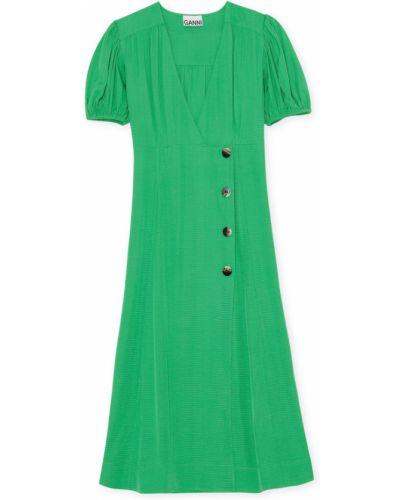 Zielona sukienka Ganni