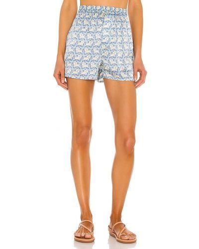Niebieskie majtki szorty na plażę z jedwabiu Frankies Bikinis