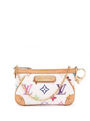 Белая кожаная сумка-тоут винтажная Louis Vuitton