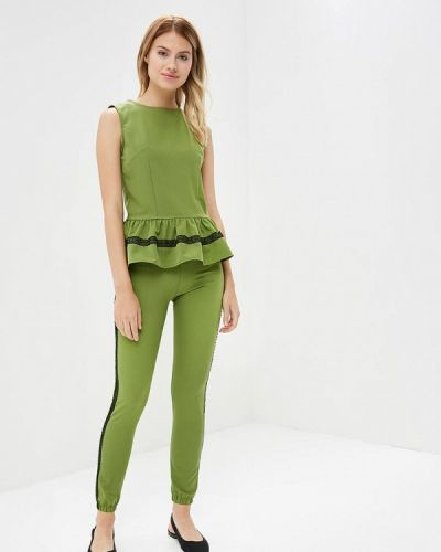 Зеленый брючный костюм Liana