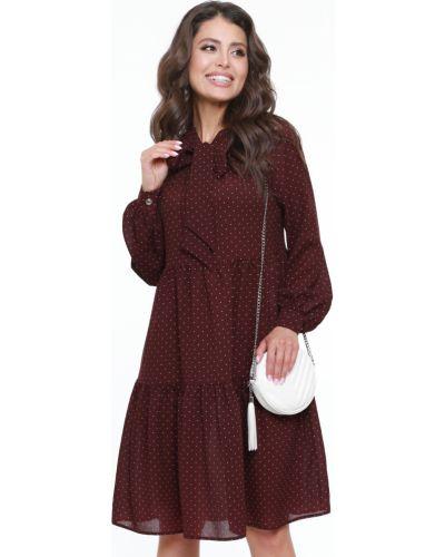 Шифоновое с рукавами модное платье макси Dstrend