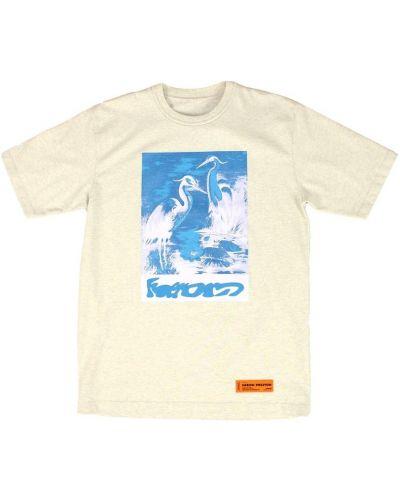 T-shirt bawełniany oversize Heron Preston