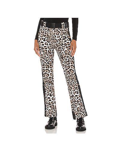Коричневые брюки стрейч с манжетами Goldbergh
