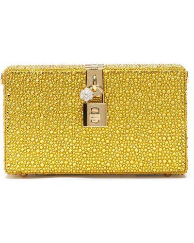 Żółta złota kopertówka Dolce And Gabbana