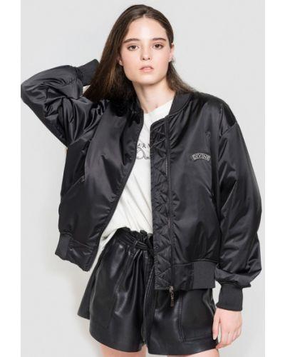 Утепленная куртка осенняя черная Keepstyle