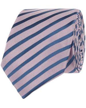 Fioletowy klasyczny krawat w paski Monti