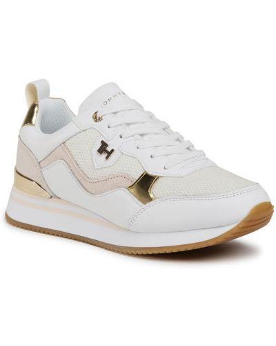 Białe sneakersy miejskie Tommy Hilfiger