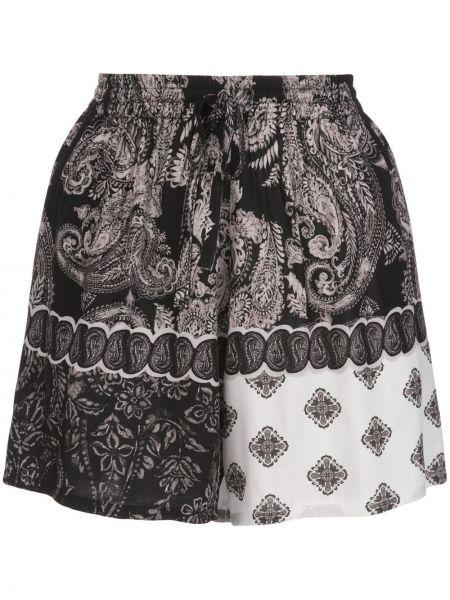 Однобортные короткие шорты с карманами Esteban Cortazar