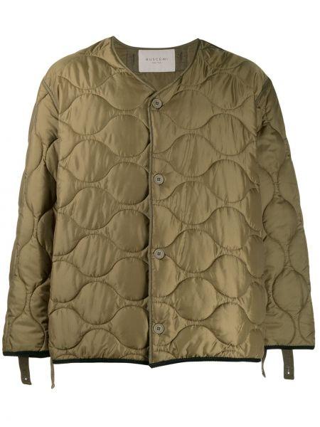 Zielona kurtka pikowana z printem Buscemi