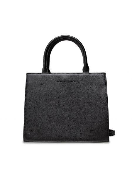 Czarna klasyczna torebka Silvian Heach