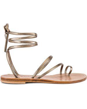 Żółte złote sandały na co dzień Cornetti
