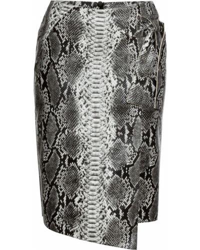 Кожаная юбка с запахом из искусственной кожи Bonprix