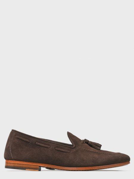 Повседневные кожаные коричневые лоферы Andrea Ventura