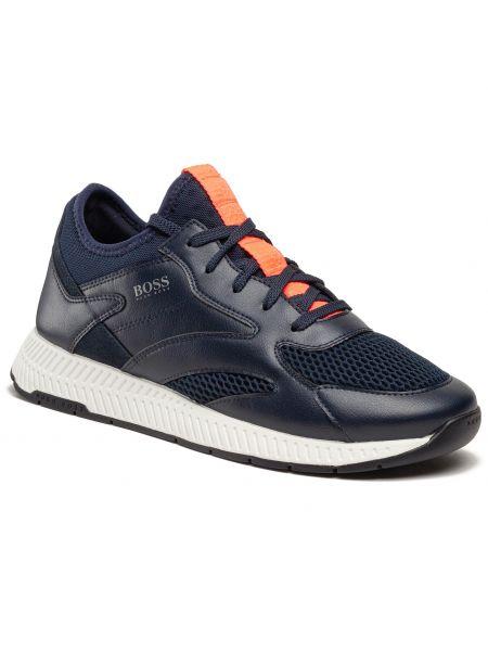 Buty sportowe skorzane - niebieskie Boss