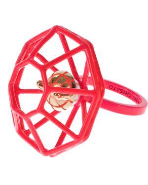 Кольцо металлический розовый Tsumori Chisato