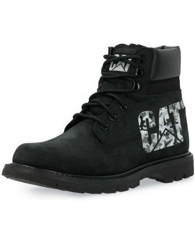Кожаные ботинки - черные Caterpillar