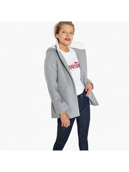 Пальто с капюшоном шерстяное пальто La Redoute Collections