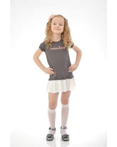 Платье мини с надписью с вырезом Mango Kids