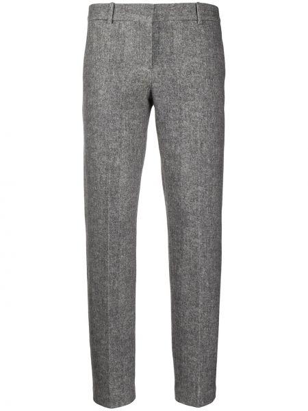 Хлопковые серые деловые со стрелками брюки Circolo 1901