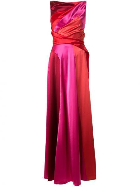 Расклешенное платье на молнии с драпировкой из крепа Talbot Runhof