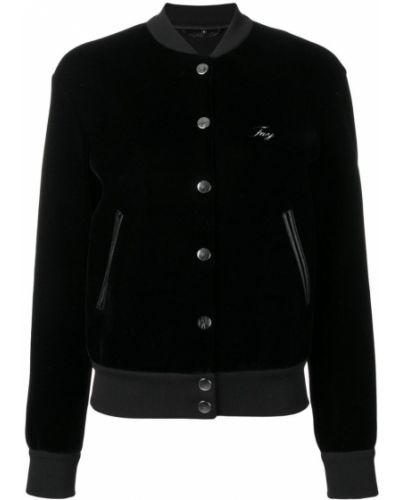 Куртка черная бархатная Fay