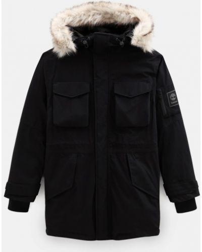Черная утепленная куртка из искусственного меха Timberland