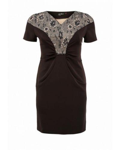 Платье миди - коричневое Luann