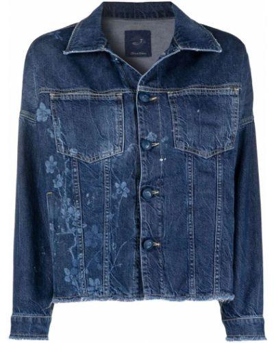Хлопковая синяя джинсовая куртка с воротником Jacob Cohen