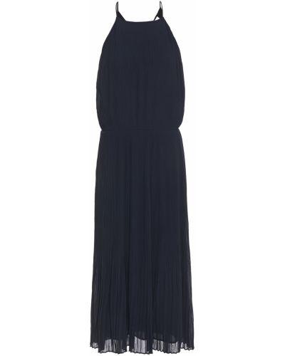 Открытое шифоновое платье миди с подкладкой SamsØe Φ SamsØe