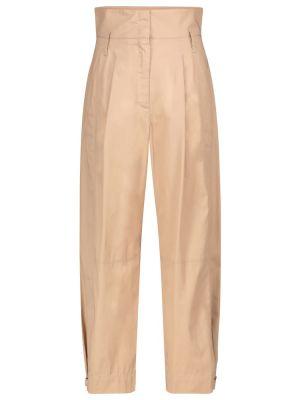 Beżowe spodnie bawełniane Dorothee Schumacher