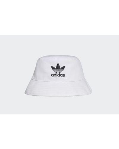 Biały kapelusz bawełniany Adidas