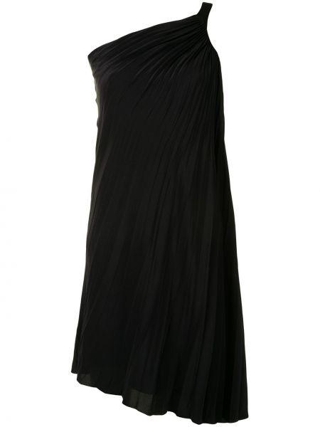 Czarna sukienka asymetryczna z jedwabiu Christian Dior